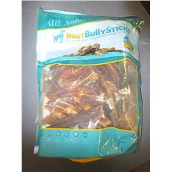 Large Bag of Bully Sticks for Dogs / #1 all natural / 2 lbs of sticks