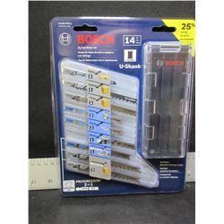 New Bosch 14 piece Jig Saw Blade set with storage case