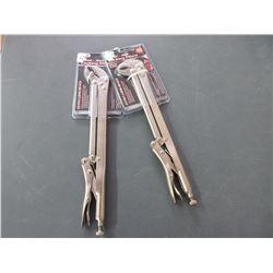 Set of 2 New 15 inch Vise Grips / 45deg. And 90 deg