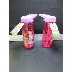2 New Frozen Childrens water bottles