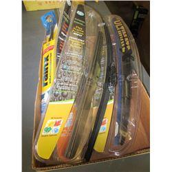 "Flat of New Wiper Blades / pair of 16 & 18"" &  / 1 - 12"" & 1 - 14"" singles"