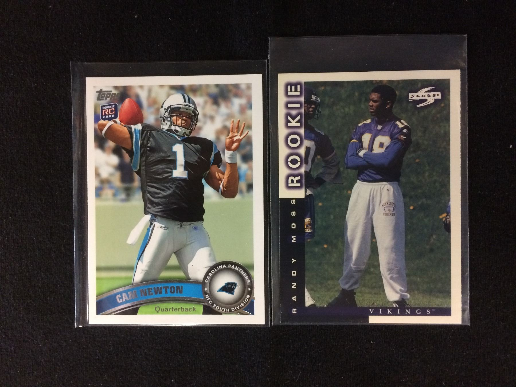 Football Trading Cards Lot Cam Newton Randy Moss