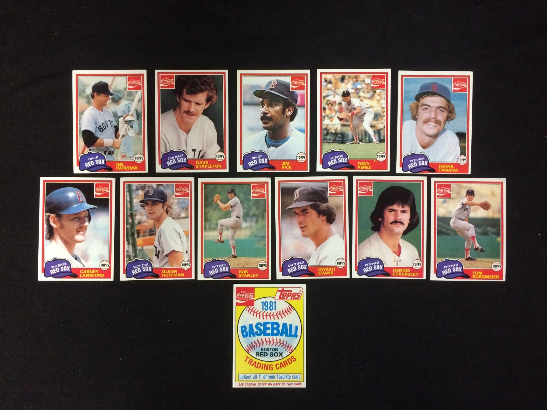 1981 Topps Coca Cola Baseball Trading Cards Lot