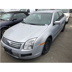 2006 FORD FUSION, 4DR SEDAN, GREY, VIN # 3FAFP07266R168802