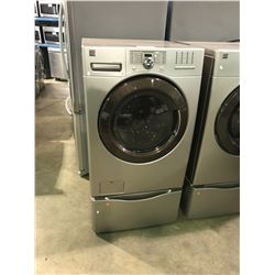BRONZE AND COPPER COLOR KENMORE FRONT LOADING CLOTHES WASHER WITH VIBRATION GUARD