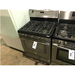 STAINLESS AND BLACK FRIGIDAIRE PROFESSIONAL SERIES   5 BURNER GAS STOVE