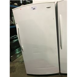 WHITE WHIRLPOOL UPRIGHT FREEZER