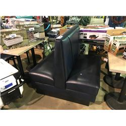 """BLUE WITH BLACK TRIM  DOUBLE RESTAURANT  BOOTH 40"""" WIDE"""