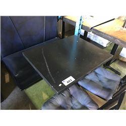 BLACK SQUARE METAL BASE RESTAURANT TABLE