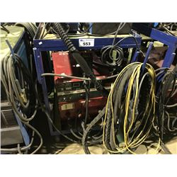 LINCOLN ELECTRIC IDEALARC CV-300 CV-DC ARC WELDING POWER SOURCE ON MOBILE CART