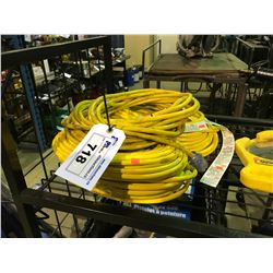 ASSORTED YELLOW EXTENSION CORDS