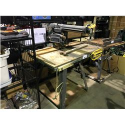 """SEARS/CRAFTSMAN 10"""" RADIAL ARM SAW WITH STAND"""