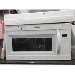 NEW WHITE WHIRLPOOL UNDER COUNTER MICROWAVE WITH ATTACHMENTS