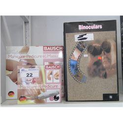 BAUSCH MANICURE & PEDICURE KITS/3 PAIRS OF LARGE BINOCULARS