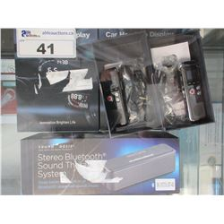 SOUND OASIS BLUETOOTH SPEAKER/2 DIGITAL CAR HEADS UP DISPLAY/2 MICROPHONE RECORDERS