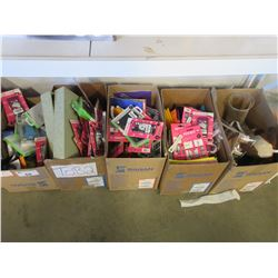 5 BOXES OF ASSORTED SCHOOL SUPPLY/MISC