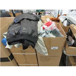 LARGE BOX OF MISC/LOT OF ASSORTED JACKETS