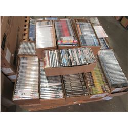 LARGE PALLET OF APPROX 30+ BOXES OF NEW DVDS/BLU-RAYS/ETC