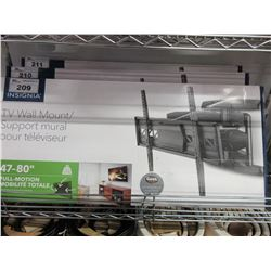 """NEW INSIGNIA 47-80"""" FULL MOTION TV WALL MOUNT"""