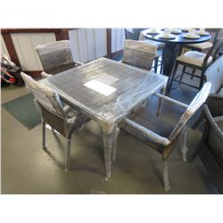 NEW 4 PC PATIO FLARE SET (INCLUDES - TABLE, 2 CHAIRS, BENCH SEAT)