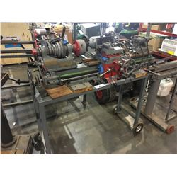 THE GREAT SCOT HEAVY DUTY METAL LATHE WITH BUILT IN GRINDER ON CART