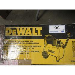 DEWALT 8 GALLON - 135 MAX PSI WHEELED HORIZONTAL COMPRESSOR