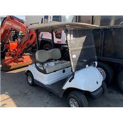 2007 YAMAHA YDRE GOLF CART, WHITE, VIN # 10164