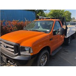 2004 FORD F350 XL SUPERDUTY, ORANGE, GAS, AUTOMATIC, VIN#1FDSF34L24EC29720, 65,355 MILES