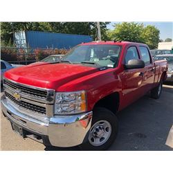 2008 CHEVROLET SILVERADO 2500HD, CREW CAB PICKUP, RED, GAS, AUTOMATIC, VIN#1GCHK23K38F222028,