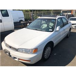1997 HONDA ACCORD EX-R, WHITE, 4DRSD, GAS, AUTOMATIC, VIN#1HGCD5662VA801736, 249,749KMS,RD,CD,PW,CC,