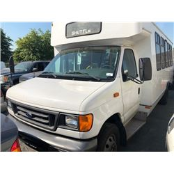 2006 FORD BUS, 20 SEAT PASS BUS, WHITE, VIN #1FDXE45S16HB06027
