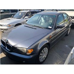 2002 BMW 320I, 4DR SEDAN, GREY, VIN # WBAEV13412KL20914