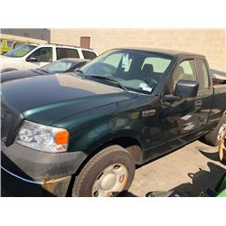 2007 FORD F150XL, EXTENDED CAB PICKUP, GREEN, GAS, AUTOMATIC, VIN#1FTRF12277NA65533, 131,024KMS,