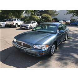 2000 BUICK LE SABRE CUSTOM, 4DR SEDAN, BLUE, VIN # 1G4HP54K0YU249955