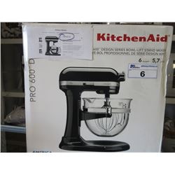KITCHENAID KP26M1X 6-QUART PRO 600 BOWL LIFT STAND MIXER