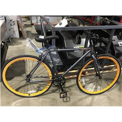 CRITICAL CYCLES HARPER SINGLE GEAR LIGHT WEIGHT BIKE - GREY & ORANGE
