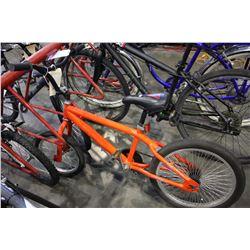 RED PAINTED CHILD'S BMX BIKE