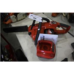 JONSERED CS16I BATTERY POWERED CHAINSAW WITH CHARGER