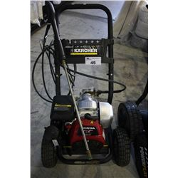 KARCHER GAS POWERED PRESSURE WASHER WITH WAND AND HONDA GC190 MOTOR