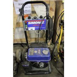 SIMONIZ S2900 GAS POWERED PRESSURE WASHER (NO WAND)
