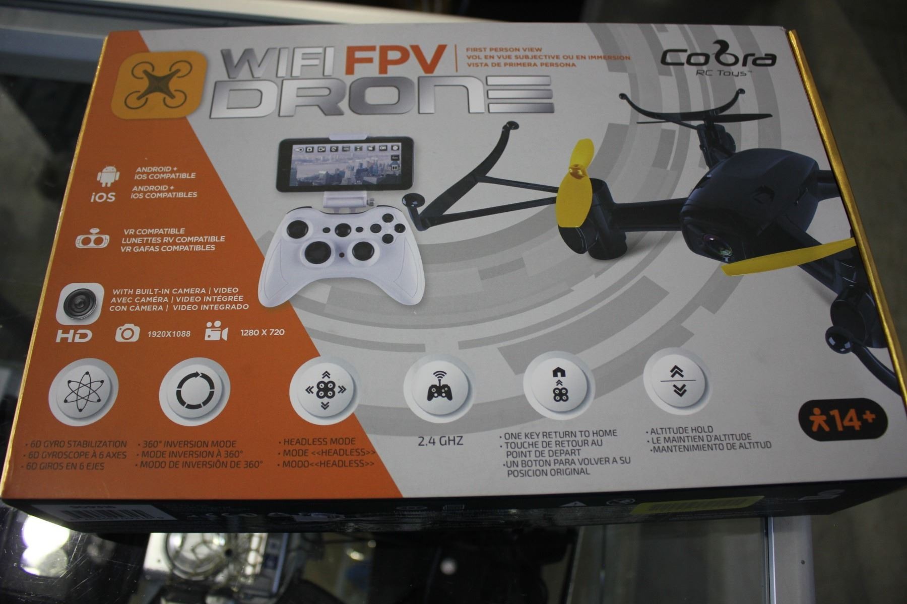 COBRA WIFI FPV DRONE WITH CAMERA, ANDROID AND IOS COMPATIBLE