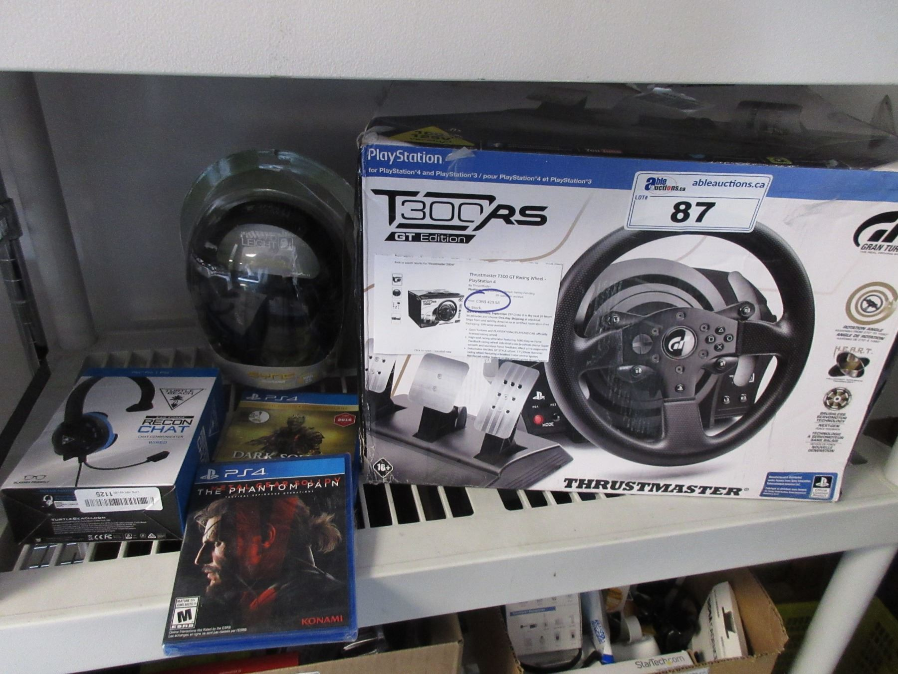 0f449f62c2b Image 1 : PLAYSTATION T300 RS GT EDITION THRUSTMASTER WHEEL, TURTLEBEACH  RECON CHAT HEADSET, ...