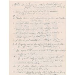 Prince Handwritten Album Art Notes