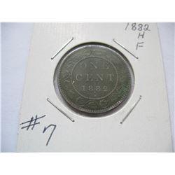 1882H Canadian Large Cent