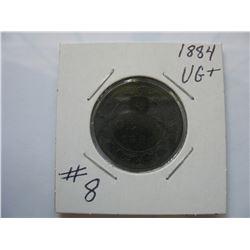 1884 Canadian Large Cent