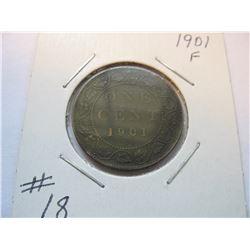 1901 Canadian Large Cent
