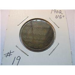 1902 Canadian Large Cent