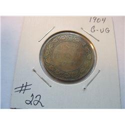 1904 Canadian Large Cent
