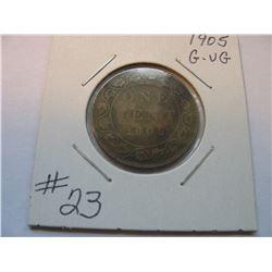 1905 Canadian Large Cent