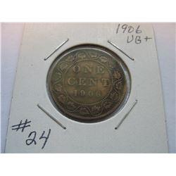 1906 Canadian Large Cent